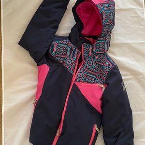 Custom Spyder Lake Tahoe School ski jacket, damage